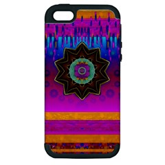 Air And Stars Global With Some Guitars Pop Art Apple Iphone 5 Hardshell Case (pc+silicone) by pepitasart