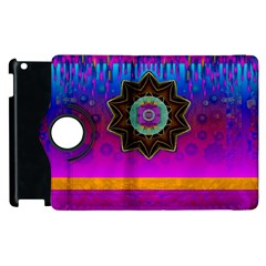 Air And Stars Global With Some Guitars Pop Art Apple Ipad 3/4 Flip 360 Case by pepitasart