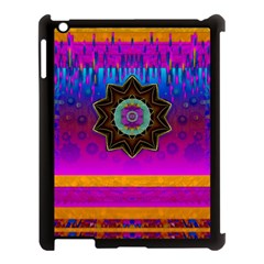 Air And Stars Global With Some Guitars Pop Art Apple Ipad 3/4 Case (black) by pepitasart