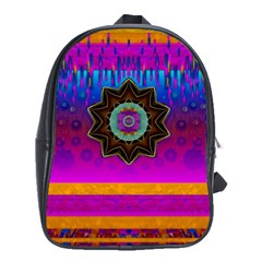 Air And Stars Global With Some Guitars Pop Art School Bags (xl)  by pepitasart
