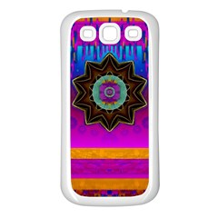Air And Stars Global With Some Guitars Pop Art Samsung Galaxy S3 Back Case (white) by pepitasart