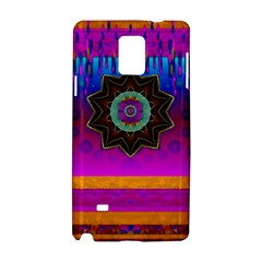 Air And Stars Global With Some Guitars Pop Art Samsung Galaxy Note 4 Hardshell Case by pepitasart