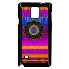 Air And Stars Global With Some Guitars Pop Art Samsung Galaxy Note 4 Case (Black)