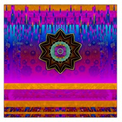 Air And Stars Global With Some Guitars Pop Art Large Satin Scarf (square) by pepitasart