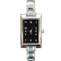Black Pattern Dark Texture Background Rectangle Italian Charm Watch