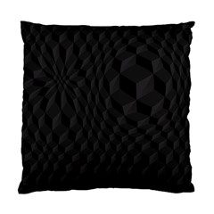 Black Pattern Dark Texture Background Standard Cushion Case (two Sides) by Nexatart