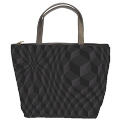 Black Pattern Dark Texture Background Bucket Bags