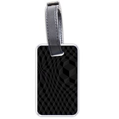 Black Pattern Dark Texture Background Luggage Tags (two Sides)