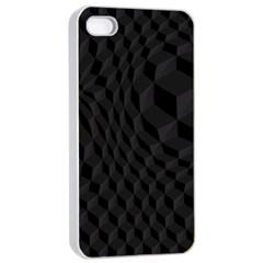 Black Pattern Dark Texture Background Apple Iphone 4/4s Seamless Case (white)