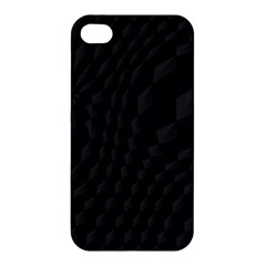 Black Pattern Dark Texture Background Apple Iphone 4/4s Hardshell Case by Nexatart