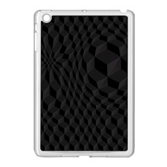 Black Pattern Dark Texture Background Apple Ipad Mini Case (white)