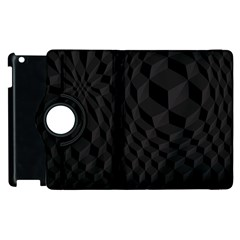 Black Pattern Dark Texture Background Apple Ipad 2 Flip 360 Case by Nexatart