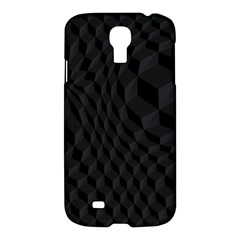 Black Pattern Dark Texture Background Samsung Galaxy S4 I9500/i9505 Hardshell Case by Nexatart
