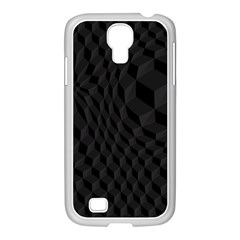 Black Pattern Dark Texture Background Samsung Galaxy S4 I9500/ I9505 Case (white)