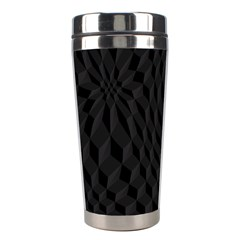 Black Pattern Dark Texture Background Stainless Steel Travel Tumblers