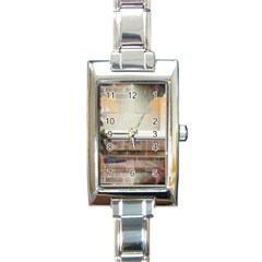 Ghostly Floating Pumpkins Rectangle Italian Charm Watch by canvasngiftshop