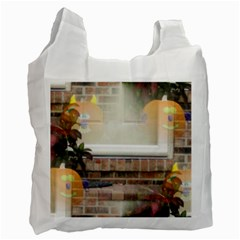Ghostly Floating Pumpkins Recycle Bag (two Side)  by canvasngiftshop