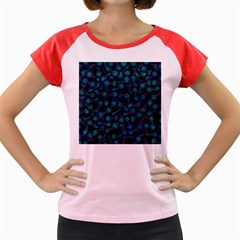 Background Abstract Textile Design Women s Cap Sleeve T Shirt