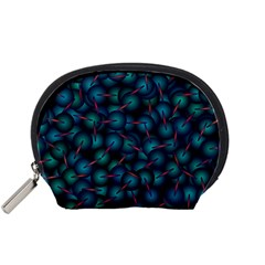 Background Abstract Textile Design Accessory Pouches (small)