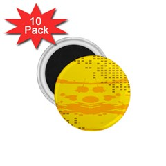 Texture Yellow Abstract Background 1 75  Magnets (10 Pack)  by Nexatart