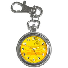 Texture Yellow Abstract Background Key Chain Watches by Nexatart