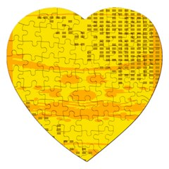Texture Yellow Abstract Background Jigsaw Puzzle (heart)