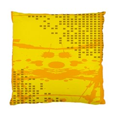 Texture Yellow Abstract Background Standard Cushion Case (one Side)