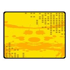 Texture Yellow Abstract Background Fleece Blanket (small) by Nexatart