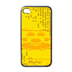 Texture Yellow Abstract Background Apple Iphone 4 Case (black)