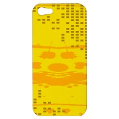 Texture Yellow Abstract Background Apple Iphone 5 Hardshell Case