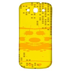 Texture Yellow Abstract Background Samsung Galaxy S3 S Iii Classic Hardshell Back Case by Nexatart