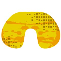 Texture Yellow Abstract Background Travel Neck Pillows