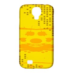 Texture Yellow Abstract Background Samsung Galaxy S4 Classic Hardshell Case (pc+silicone) by Nexatart