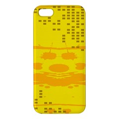 Texture Yellow Abstract Background Iphone 5s/ Se Premium Hardshell Case by Nexatart
