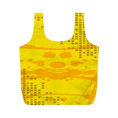 Texture Yellow Abstract Background Full Print Recycle Bags (m)  by Nexatart