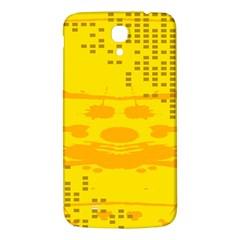 Texture Yellow Abstract Background Samsung Galaxy Mega I9200 Hardshell Back Case by Nexatart