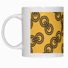 Abstract Shapes Links Design White Mugs by Nexatart