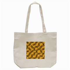 Abstract Shapes Links Design Tote Bag (cream) by Nexatart