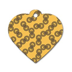 Abstract Shapes Links Design Dog Tag Heart (one Side)