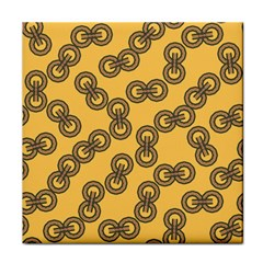 Abstract Shapes Links Design Face Towel