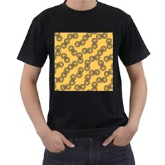 Abstract Shapes Links Design Men s T Shirt (black)
