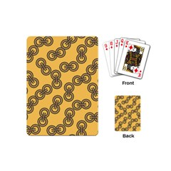 Abstract Shapes Links Design Playing Cards (mini)  by Nexatart
