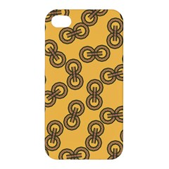 Abstract Shapes Links Design Apple Iphone 4/4s Premium Hardshell Case by Nexatart