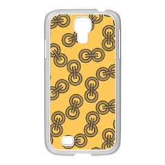 Abstract Shapes Links Design Samsung Galaxy S4 I9500/ I9505 Case (white)