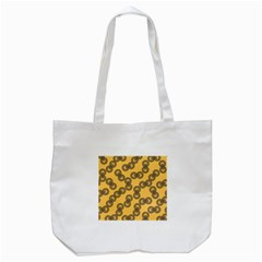 Abstract Shapes Links Design Tote Bag (white) by Nexatart