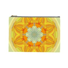 Sunshine Sunny Sun Abstract Yellow Cosmetic Bag (large)