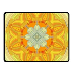 Sunshine Sunny Sun Abstract Yellow Fleece Blanket (small) by Nexatart