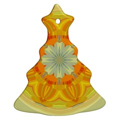 Sunshine Sunny Sun Abstract Yellow Christmas Tree Ornament (two Sides)