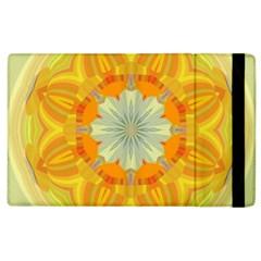 Sunshine Sunny Sun Abstract Yellow Apple Ipad 2 Flip Case by Nexatart