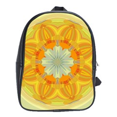 Sunshine Sunny Sun Abstract Yellow School Bags (xl)  by Nexatart